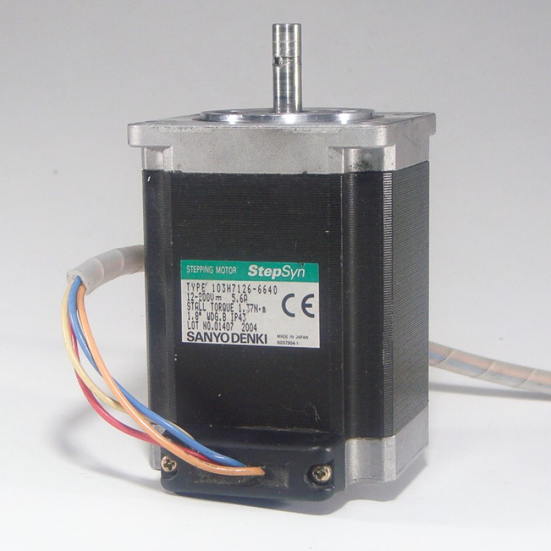 Sanyo denki 103h7126 6640 available now compart for Step syn sanyo denki stepping motor datasheet